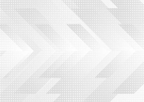 Grey and white tech arrows abstract background