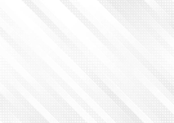 grey and white tech geometric stripes abstract background - в стиле минимализма stock illustrations
