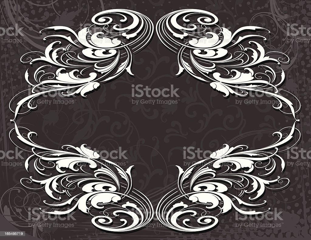 Grey Arabesque Frame royalty-free stock vector art