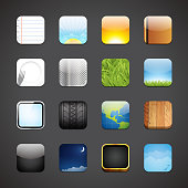 Vector illustration of app icon backgrounds.