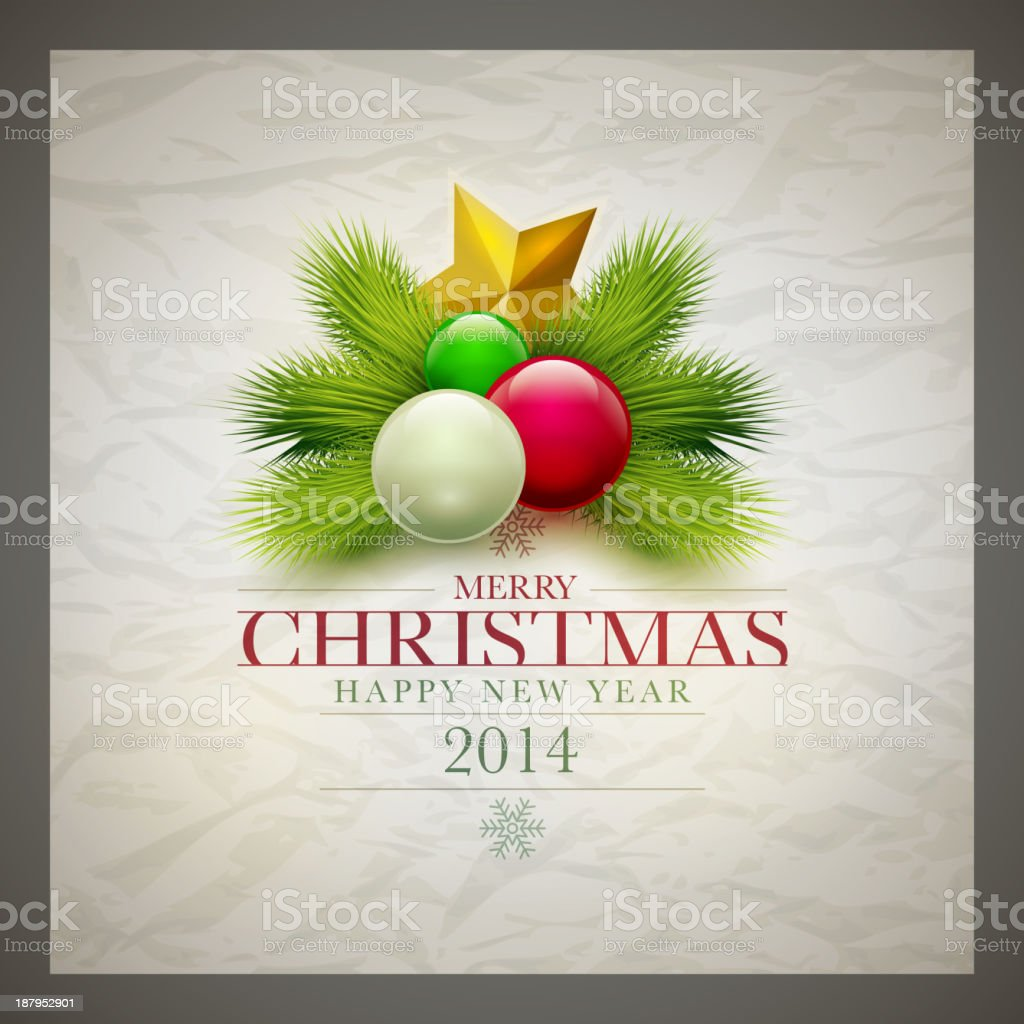 A Grey Bordered Christmas Card From 2014 Stock Vector Art & More ...