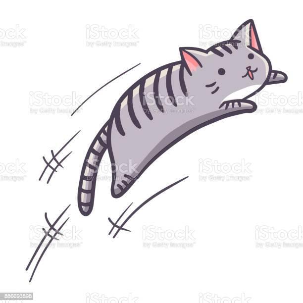 Grey cat jumping vector id886693898?b=1&k=6&m=886693898&s=612x612&h=7ml0ez knf6uehvlguydgovj1yzygi6vf6h6ohqcd6q=