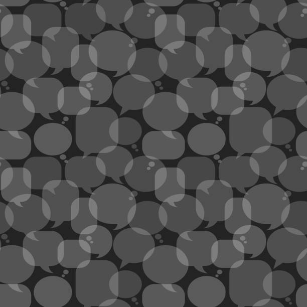 Grey Chat Bubbles royalty free vector art Pattern Grey Chat Bubbles Icon Pattern pattern stock illustrations