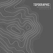 Grey contours vector topography. Geographic mountain topography vector illustration. Topographic pattern texture. Map on land vector terrain. Elevation graphic contour height lines. Topographic map height abstract polygonal land. Mountain topographic contour in lines and contours.