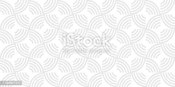 Grey geometric striped seamless pattern, light grey and white texture. Vector background, abstract monochrome wallpaper. Modern universal ornament for stylish design