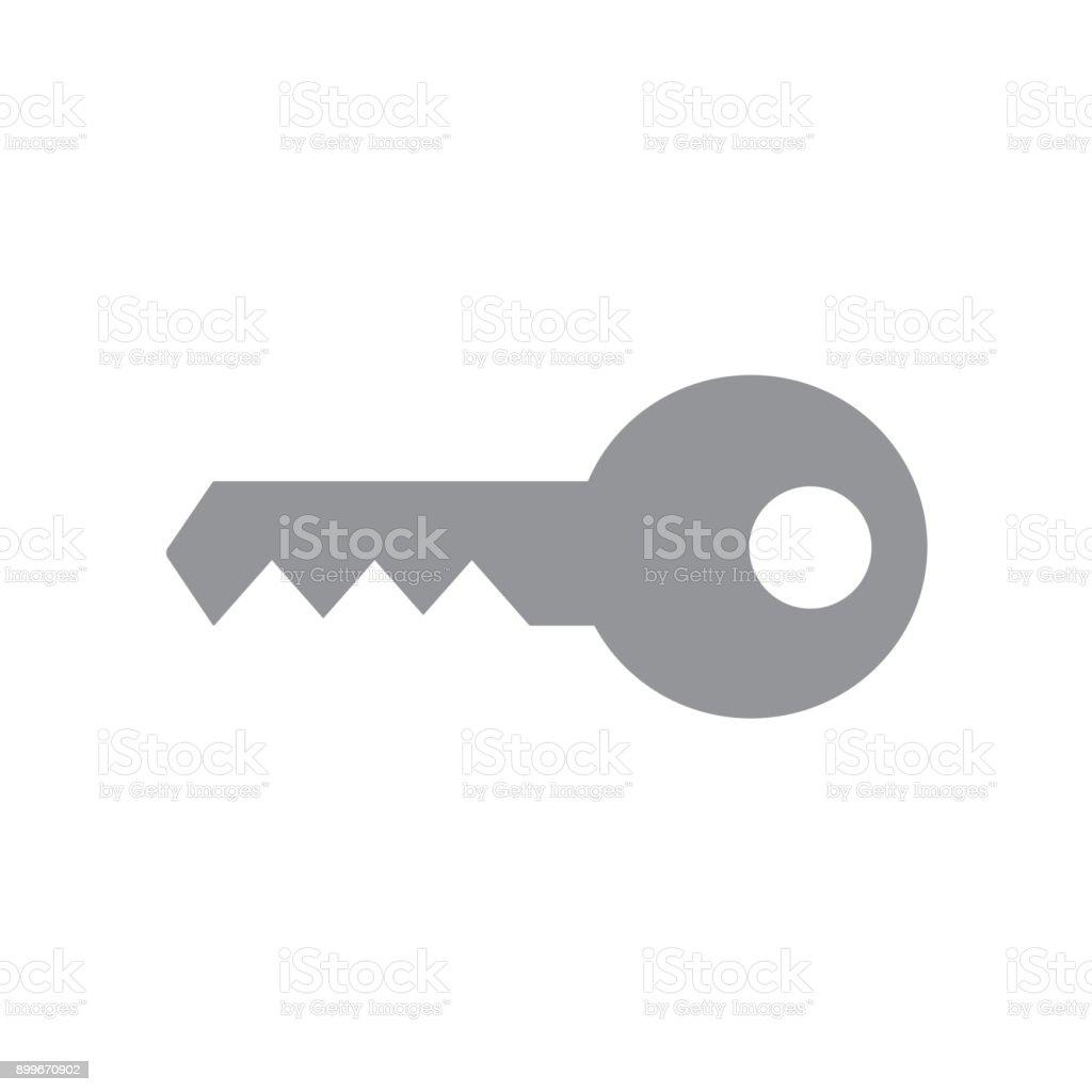 Graue Schlüsselsymbol Stock Vektor Art und mehr Bilder von Abmelden ...