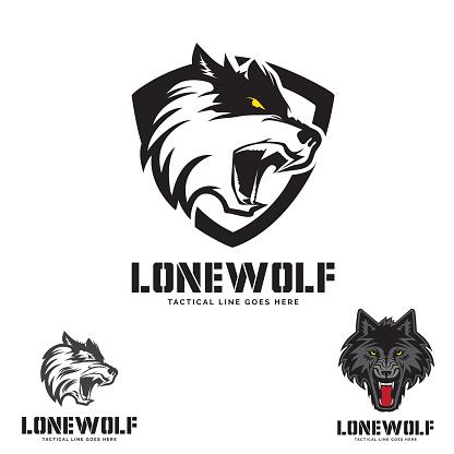 Grey Lone Wolf head