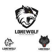 Grey Lone Wolf head theme set.