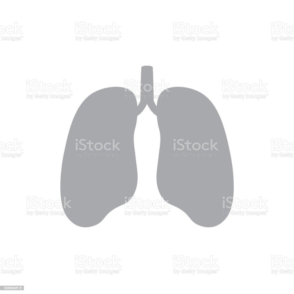 Graue Lunge Symbol Stock Vektor Art und mehr Bilder von Anatomie ...
