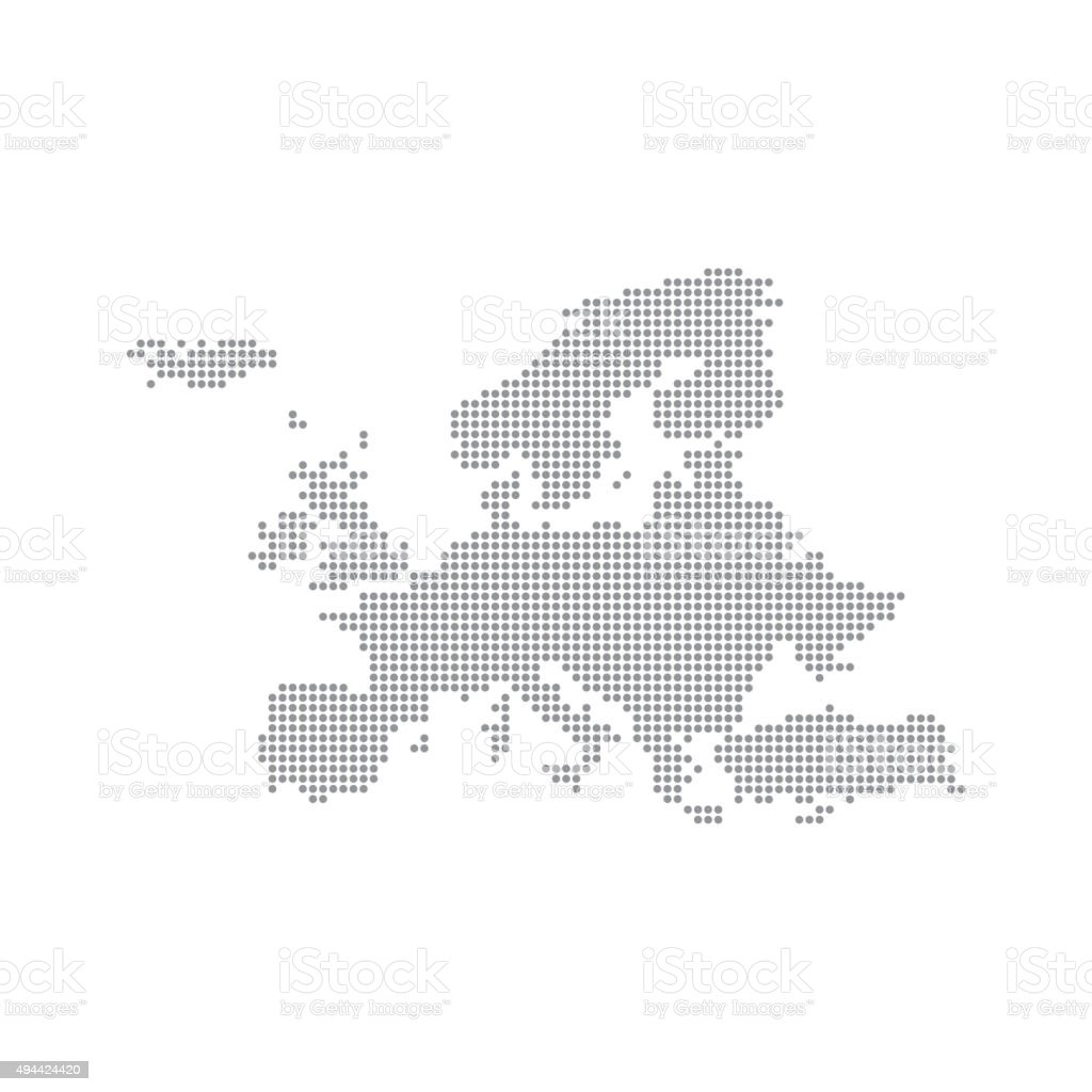 Grey Map Europe In The Dot. Vector illustration vector art illustration