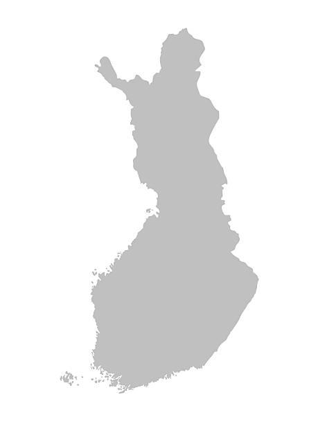 그레이 맵 핀란드 - 핀란드 stock illustrations
