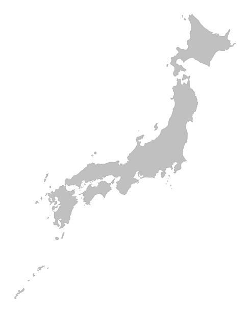 灰色の日本地図 - 日本 地図点のイラスト素材/クリップアート素材/マンガ素材/アイコン素材