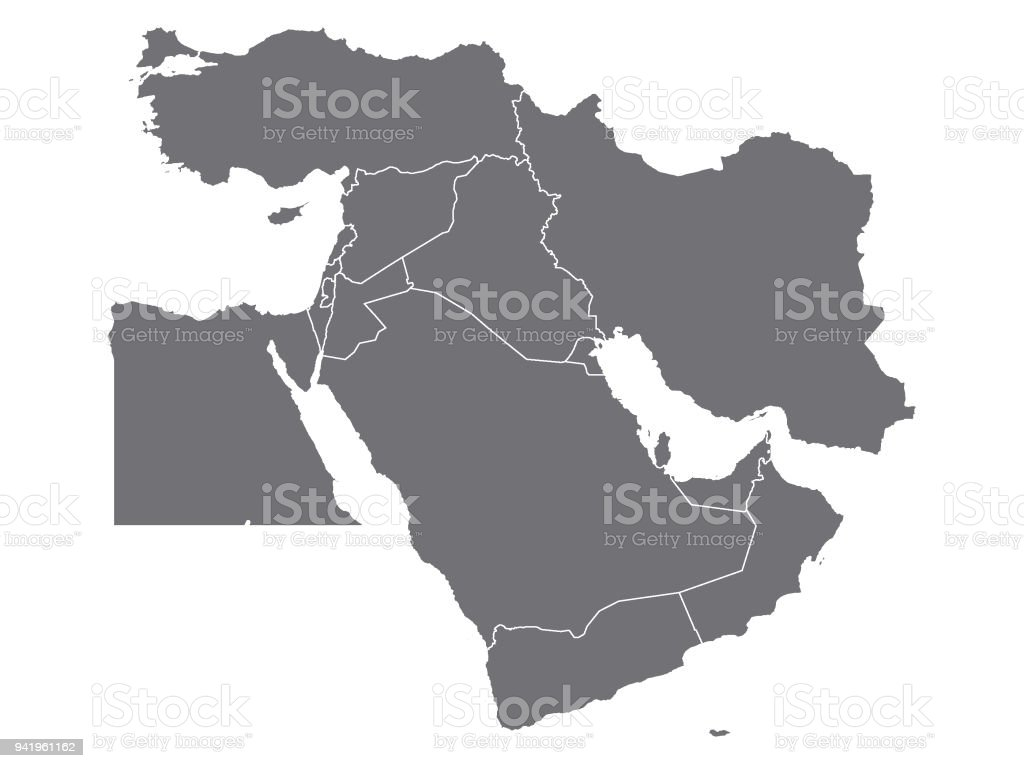Grey map of middle east stock vector art more images of grey map of middle east royalty free grey map of middle east stock vector art gumiabroncs Images