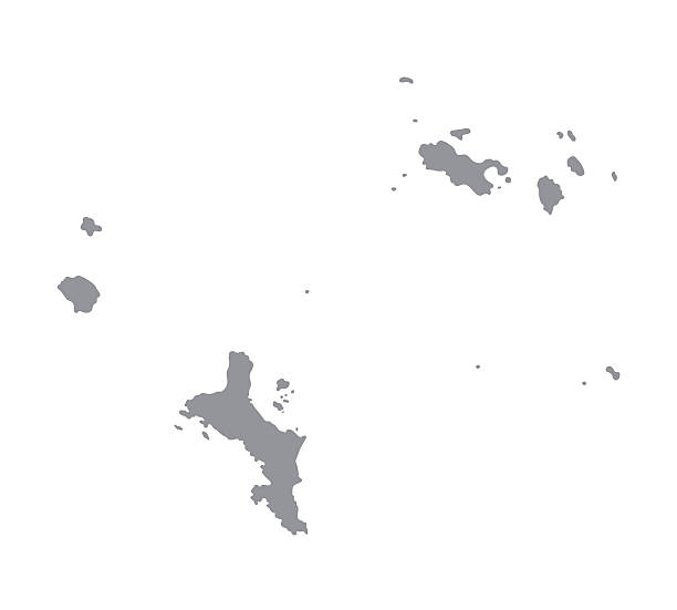 그레이 지도 세이셜 - 세이셸 stock illustrations