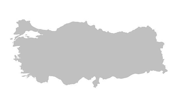 grey map of Turkey vector map of Turkey turkish stock illustrations