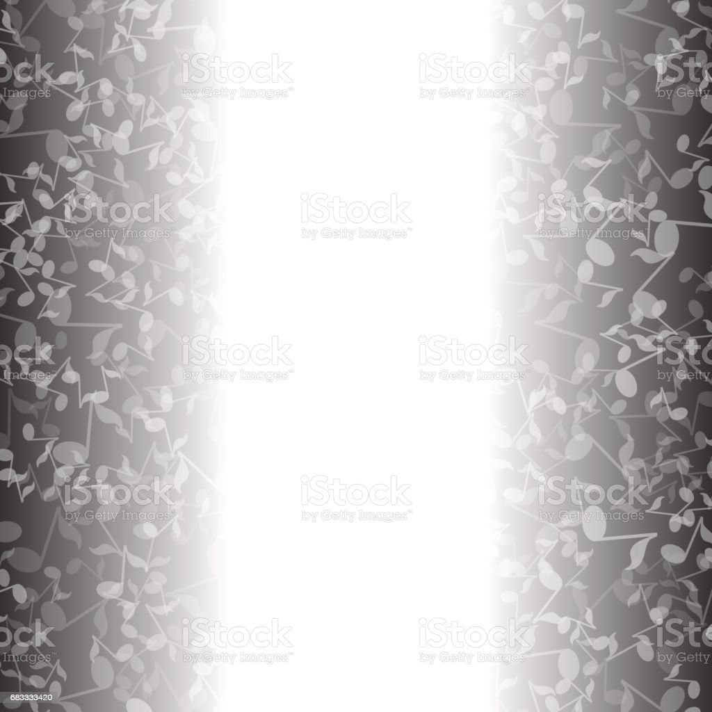 Grey Musical Notes Pattern royalty-free grey musical notes pattern stock vector art & more images of acoustic guitar