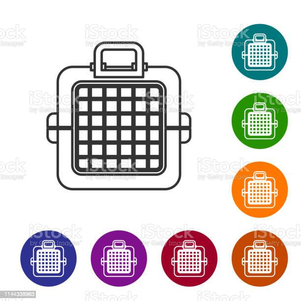 Grey pet carry case line icon isolated on white background carrier vector id1144338963?b=1&k=6&m=1144338963&s=612x612&h=qqjdxqd7j0lug6a2dvtfykqbkemzndxxf0g 2i02jni=