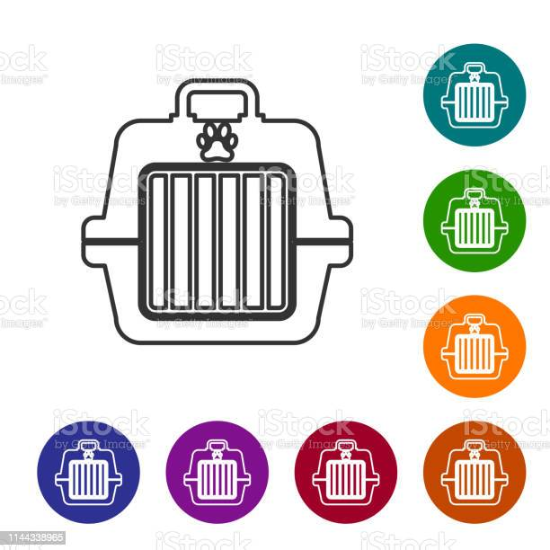 Grey pet carry case line icon isolated on white background carrier vector id1144338965?b=1&k=6&m=1144338965&s=612x612&h=ff we40iwk0ayizunkc0w7gb29aaclzmygop0e0vim0=