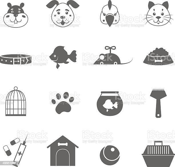 Grey pet icons set vector id499518887?b=1&k=6&m=499518887&s=612x612&h=abmvdyvfrfzuj9ikkk7gbhaw9h6t2gjlvdknt7d4psu=