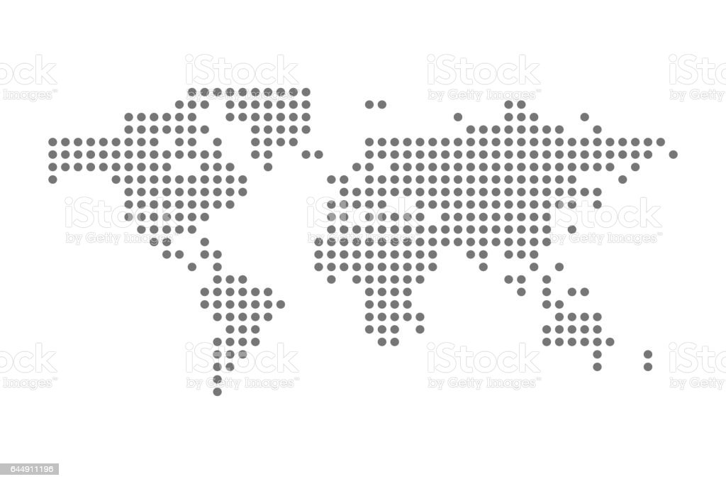Grey political world map vector isolated illustration stock vector grey political world map vector isolated illustration royalty free grey political world map vector isolated gumiabroncs Images