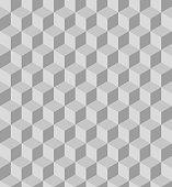 Grey polygon seamless pattern. Vector, illustration.