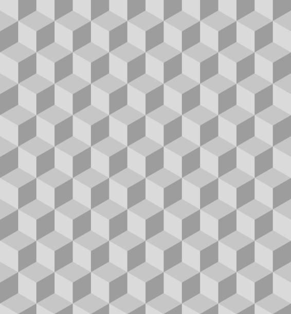 Grey polygon seamless pattern Grey polygon seamless pattern. Vector, illustration. cube shape stock illustrations