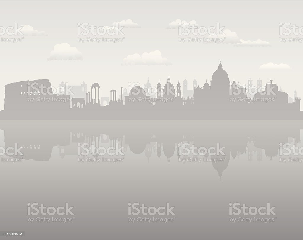 Grey Rome vector art illustration
