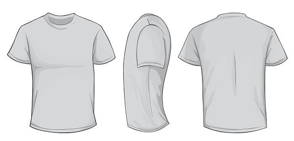 Grey Shirt Template
