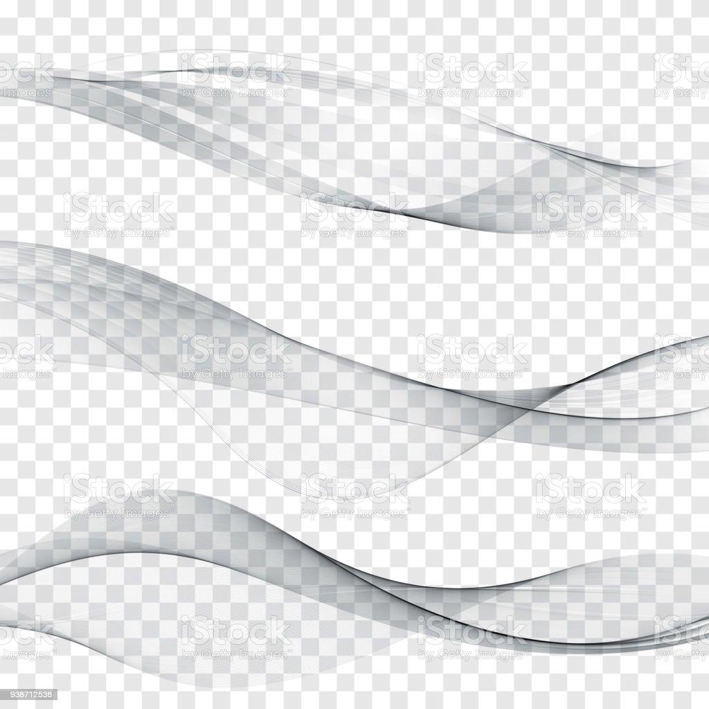 Ilustración de Línea Suave Gris Web Encabezado Colección Abstracta ...