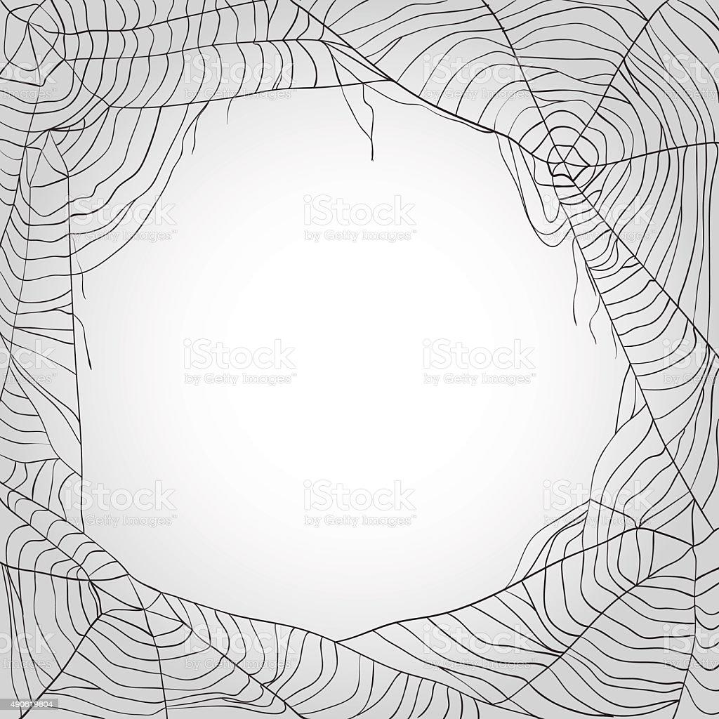 Grau Spinnennetz Hintergrund Mit Textfreiraum Stock Vektor Art und ...
