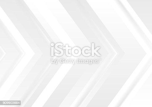 Grey tech abstract corporate arrows background. Vector design