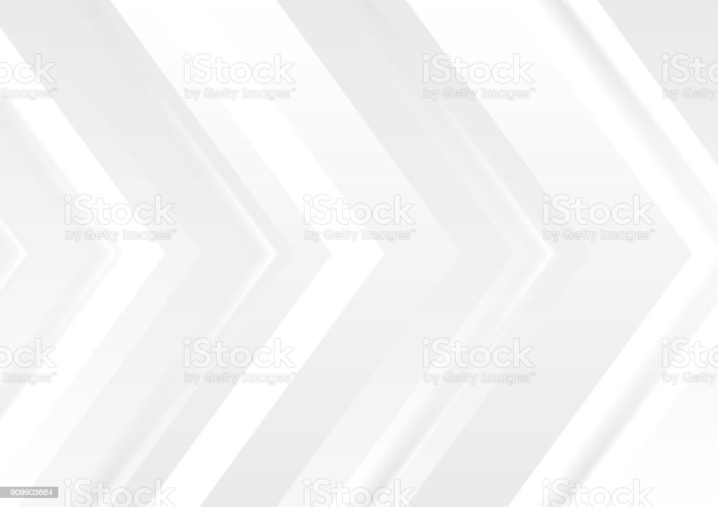 Grey tech abstract corporate arrows background vector art illustration