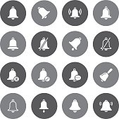Grey Vector Bell - 16 Icons