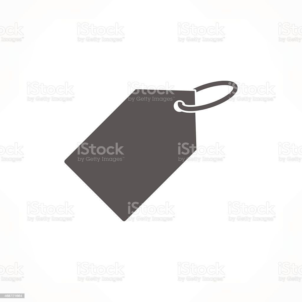 Grey vector icon of price tag on white background vector art illustration