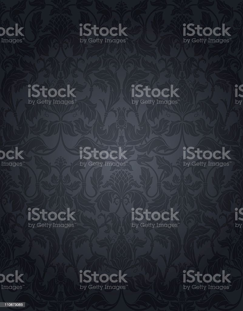 Grey Vintage Seamless Wallpaper royalty-free grey vintage seamless wallpaper stock vector art & more images of backgrounds