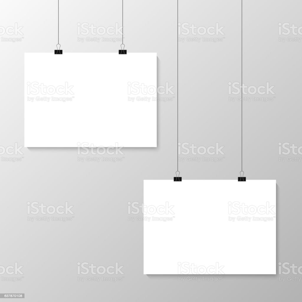 Grey wall with mock up vector art illustration