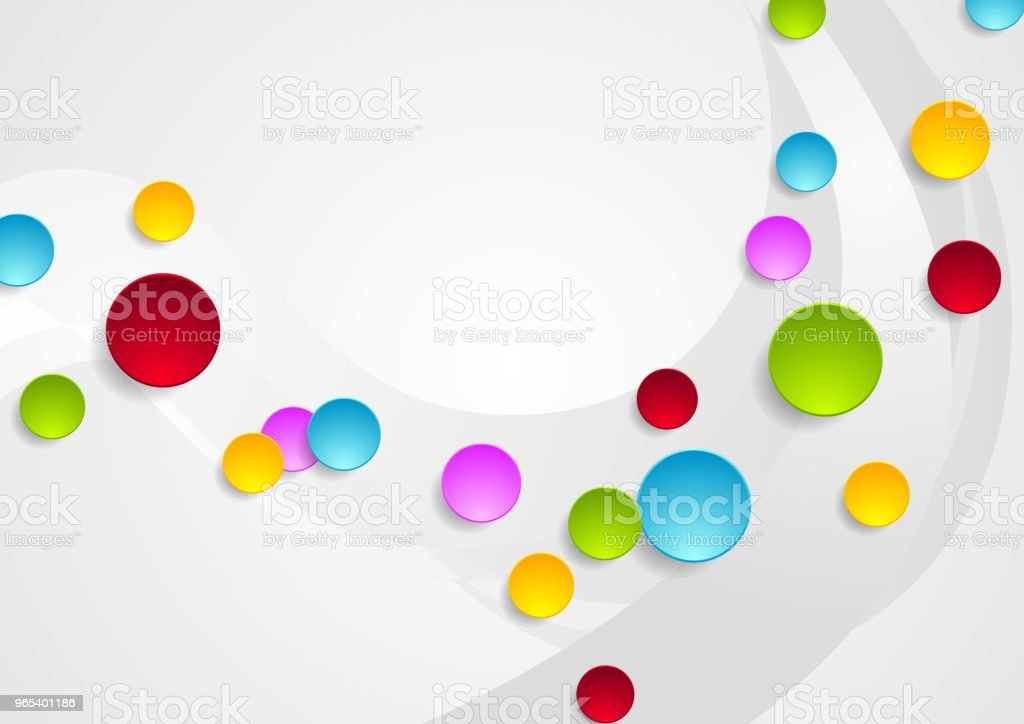 Grey wavy background and colorful circles royalty-free grey wavy background and colorful circles stock vector art & more images of abstract