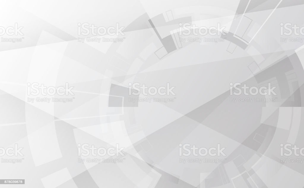 Grey wheel geometric technology background with gear shape. Vector abstract graphic design vector art illustration