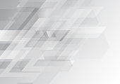 Grey wheel geometric technology background with gear shape. Vector abstract graphic design