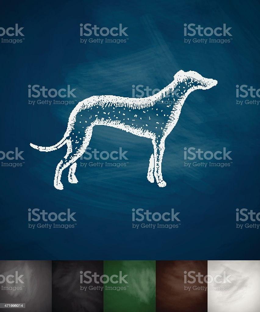 greyhound icon vector art illustration