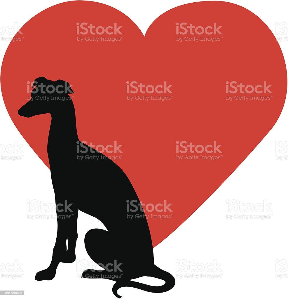 Greyhound Rescue vector art illustration