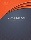 Abstract design for booklet or brochure cover artwork. File is organized into layers and download includes: EPS, JPG, PDF formats.