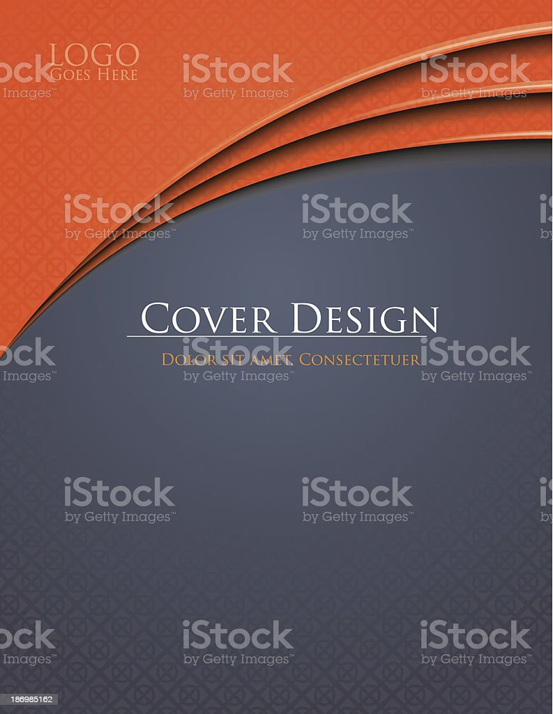 Grey-Orange Cover vector art illustration