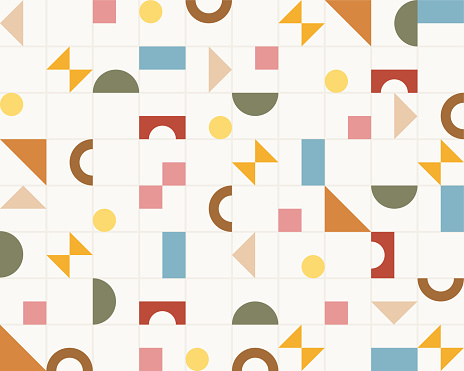 Grid and shape pattern
