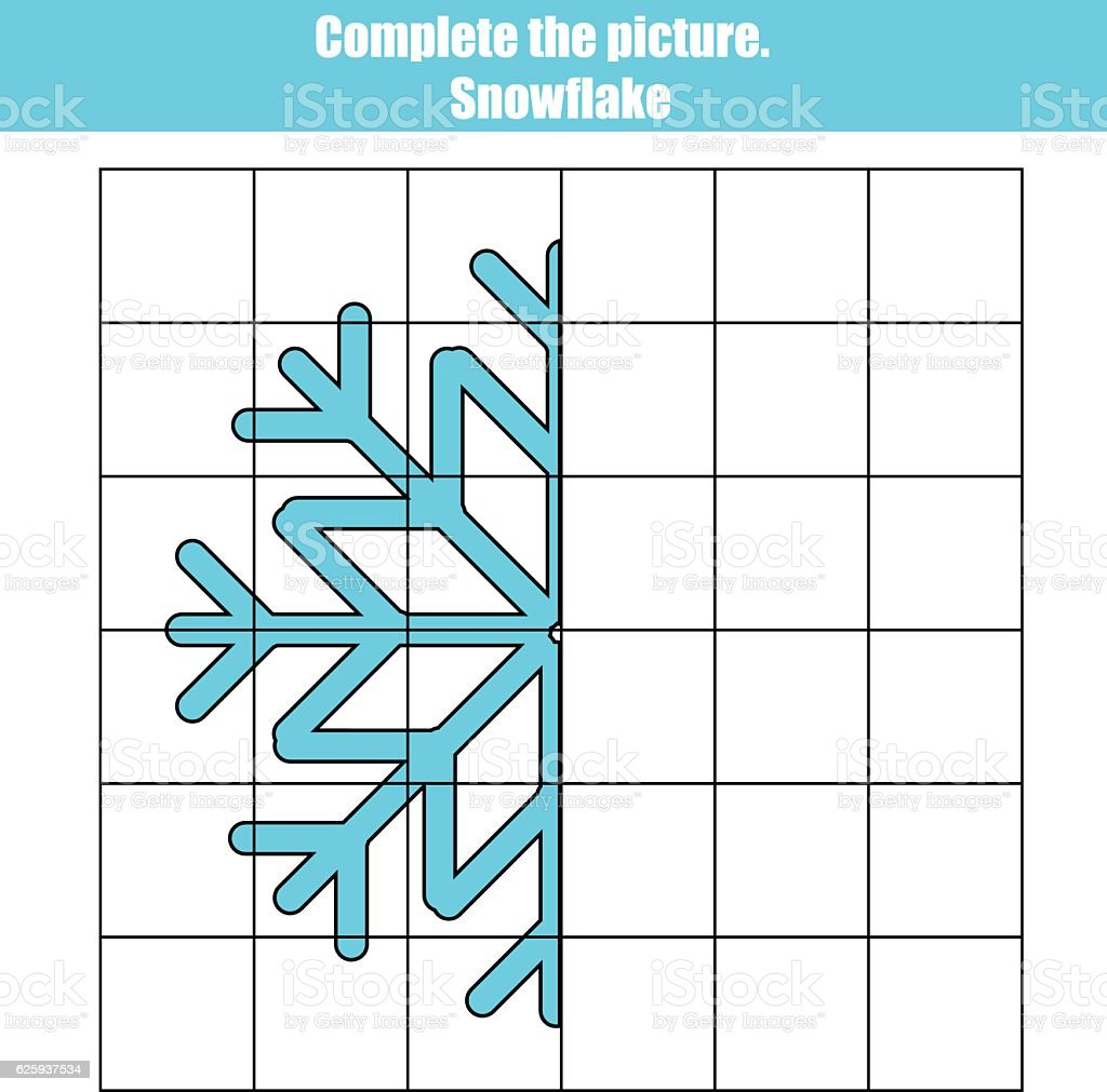 Grid Copy Game Complete The Picture Educational Children Printable ...