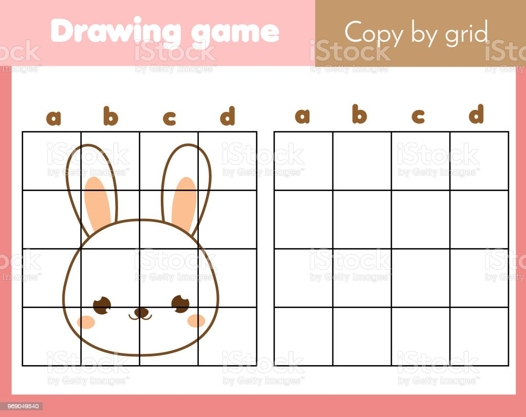 photograph about Printable Kids Games referred to as Grid Replica Worksheet Informative Little ones Video game Printable Small children