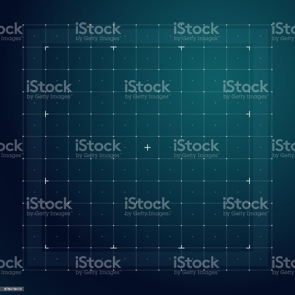 Grid for futuristic hud interface. Line technology vector pattern vector art illustration