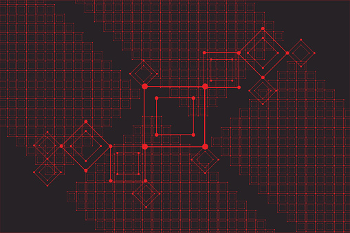 Grid for futuristic hud interface. Line technology vector pattern