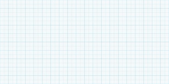 Grid Graph Paper Sheet. Blue on White Background. Texture Template. Vector illustration