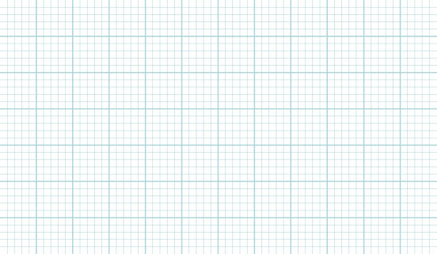rasterpapierblatt textur vektor-illustration auf weißem hintergrund - gitter stock-grafiken, -clipart, -cartoons und -symbole